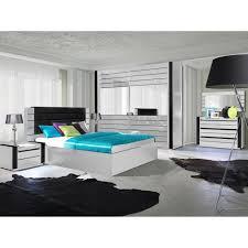 chambre a coucher ensemble design pour chambre à coucher lina blanc lit 2 chevets