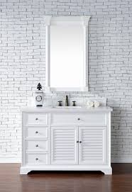 White Bathroom Cabinets by Abstron 48 Inch White Finish Single Cottage Bathroom Vanity
