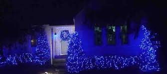 blue led lights decorating outdoors tips exles