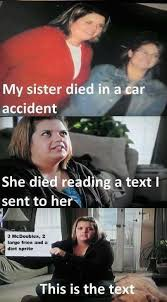 Texting While Driving Meme - texting while driving