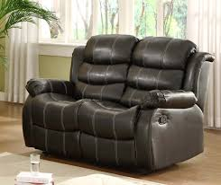 Loveseat Recliners Homelegance Smithee Love Seat Dual Recliner Black Bonded