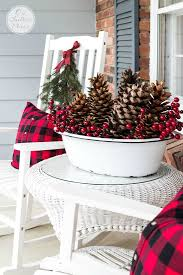 Home Decor For Christmas Festive U0026 Frugal Christmas Porch Decor Frugal Christmas