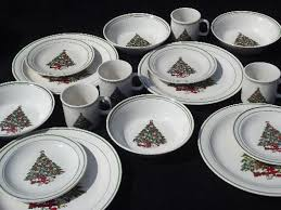 vintage tree dishes mt clemens pottery set for