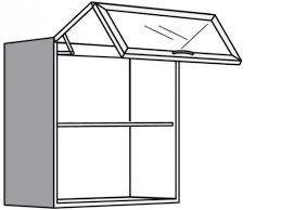 hängeschrank küche mit falt lift glastür