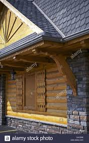 polish highlanders architecture style log home with decoration
