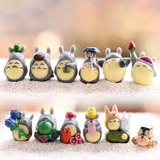 hayao miyazaki mini totoro miniature figurine diy garden