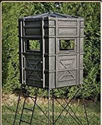 Elevated Bow Hunting Blinds Amazon Com Hughes 4x4 Bay Window Bow Hunting Blind Hideout Box