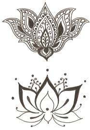 lotus clipart tribal pencil and in color lotus clipart tribal