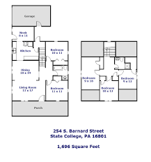 254 s barnard street state college pa 16801 park forest floor plan of the 5 bedroom house for rent at 254 s barnard street