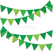 s day decorations green decorative flags streamers to celebrate st s day