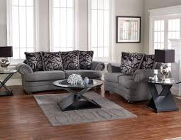 Pillow Back Sofas by Grey Sofa U0026 Love Seat With Transitional Furniture Style And Throw