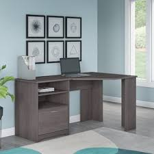 Grey Office Desk L Shaped Desks You Ll Wayfair