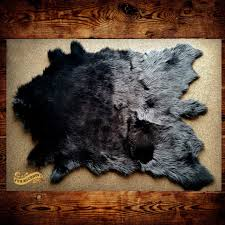 Fur Area Rug Fur Accents Black Faux Mule Deer Skin Area Rug By Fur Accents