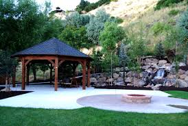 build a backyard fire pit fabulous how to build a gazebo with a fire pit garden landscape