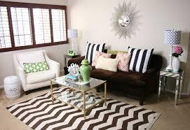 chevron rug contemporary living room serendipity interiors