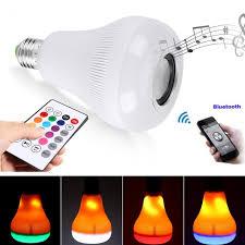 bluetooth music light bulb 18w rgb e27 led flame effect light l bulb bluetooth speaker music