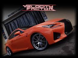 lexus rc f in orange lexus rc f in for rays g25 edge u0026 rs r springs vfr auto blog