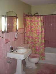 pink bathroom decorating ideas pink bathrooms archives retro renovation regarding pink bathroom