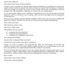 confirmation letter for guest speaker just letter templates
