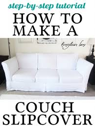 How To Make Slipcovers For Dining Room Chairs How To Make A Couch Slipcover Part 1 Couch Slipcover Couch