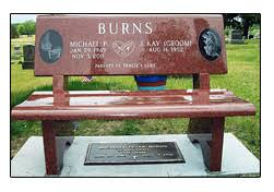 Commemorative Benches Iowa Illinois Cemetery Granite Memorial Benches Cremation
