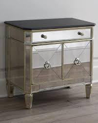 Mirrored Dressers And Nightstands Amelie Two Door Mirrored Chest