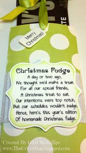 Halloween Candy Poems My Craft Spot Monday Challenge 121 Christmas Neighbor Gifts