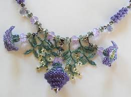 flower bead necklace images Linda richmond downloadable beadweaving patterns page one jpg