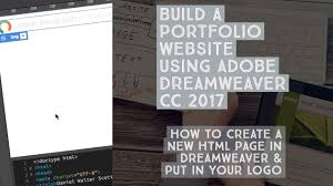 design html email signature dreamweaver how to create a new html page in dreamweaver put in your logo