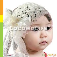 big flower headbands baby girl headband floral big lace ribbon bow white