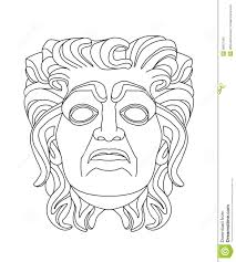 greek theatrical mask of an old man royalty free stock photo