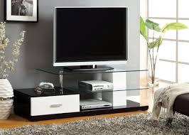 black u0026 white high gloss finish tv stand caravana furniture