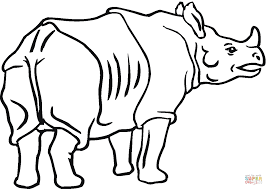 indian rhinoceros coloring page free printable coloring pages