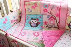 Nursery Cot Bedding Sets Promotion 7pcs Appliqued Baby Cot Crib Bedding Set For