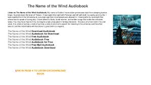 the name of the wind audiobook to free mp3