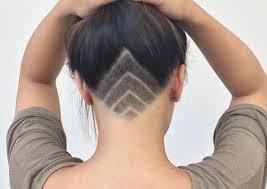 redhair nape shave image result for female undercut designs future hair pinterest