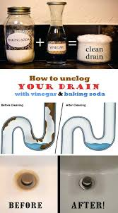 clogged sink baking soda clean kitchen sink baking soda how unclog drain vinegar to your with