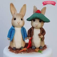 rabbit and benjamin bunny fondant models by www