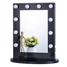 chende black hollywood tabletops lighted makeup mirror vanity with