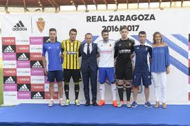 Home Away Nc by Real Zaragoza 16 17 Home Away And Third Kits Released Footy