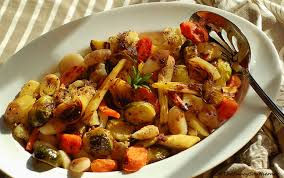 Roasted Vegetables Recipe by Roasted Vegetable Gnocchi With Balsamic Reduction The Saucy