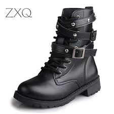 womens motorcycle boots sale best vintage black combat boots products on wanelo