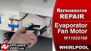 refrigerator evaporator fan replacement whirlpool maytag kitchenaid refrigerator evaporator fan motor