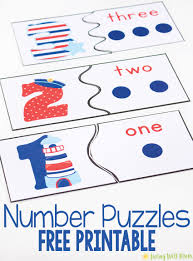 number recognition puzzles free printables