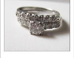 vintage wedding ring sets vintage bridal sets etsy