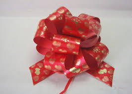christmas gift bow christmas gift stripes swirls pom pom bow 5 wide wired ribbon