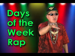 days of the week song day of the week rap back educational