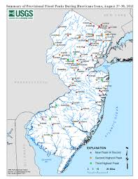 Map Of Middlesex County Nj Usgs New Jersey Summary Of August 27 30 2011 Flooding In New Jersey