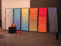 church backdrops patterns in the yarn church stage design ideas