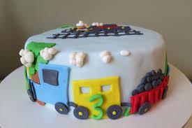 3rd birthday choo choo train cake
